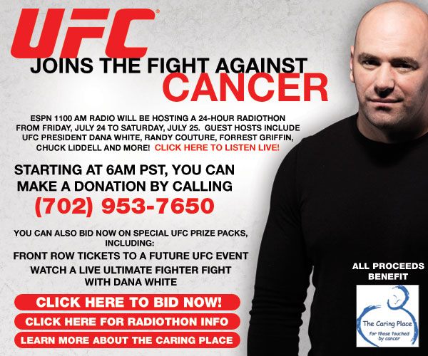 UFC Joins the Fight Against Cancer